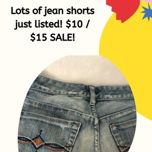 Jean shorts sale!!!!!!! Get ready 4 brighter days!